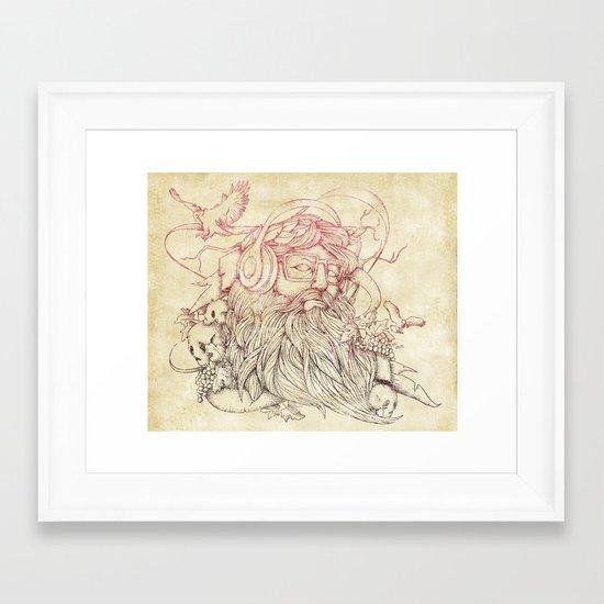 Listen to your soul Framed Art Print