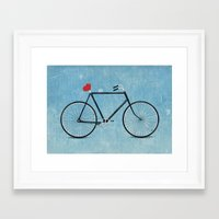 I ♥ BIKES Framed Art Print