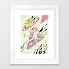 Pizza Riders Framed Art Print