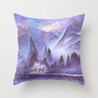 Winter Winds Throw Pillow