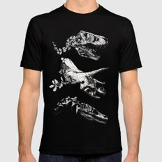 Jurassic Bloom. Mens Fitted Tee Black SMALL