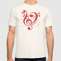 Love Music ~ Valentines … Mens Fitted Tee Natural SMALL