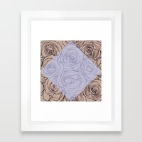 Art Nouveau Rose Framed Art Print