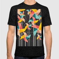 Colourful Pinwheels Mens Fitted Tee Tri-Black SMALL