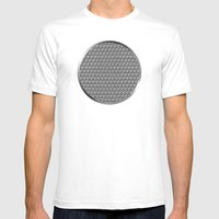 Pencil Sketched Circles Mens Fitted Tee White SMALL