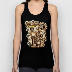 Steampunk Cat Vintage St… Unisex Tank Top
