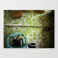 Music Shop, Palestinian camp, Aleppo Canvas Print