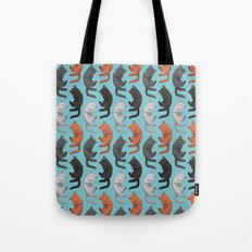Sleeping Cats Pattern Tote Bag