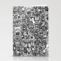 gargoyles black white Stationery Cards