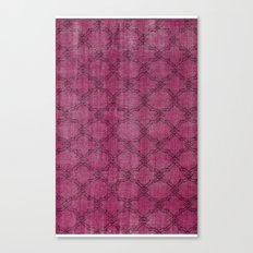 Overdyed Rug 1 Crushed Berry Canvas Print