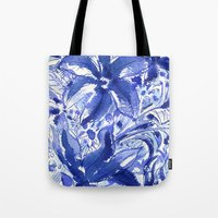 Blue flowers. Tote Bag