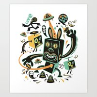 Little Black Magic Rabbi… Art Print