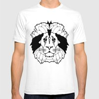 The Mane Attraction Mens Fitted Tee White SMALL