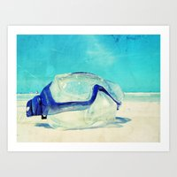 Gone Diving ....  Art Print