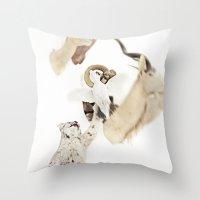 Fig. O1 | Lynx And Prey Throw Pillow