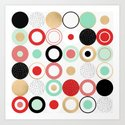 Summer Circles Art Print