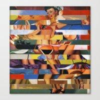 Glitch Pin-Up Redux: Mad… Canvas Print