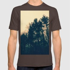 'Morning pines' Mens Fitted Tee Brown SMALL