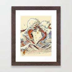 The Wave Of Love Framed Art Print