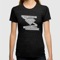 Feed Me Diamonds Womens Fitted Tee Tri-Black SMALL
