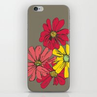 Grey Flowers iPhone & iPod Skin