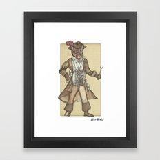 Drum Cat Framed Art Print