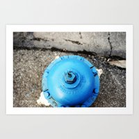 Blue Is Better Than Red. Art Print