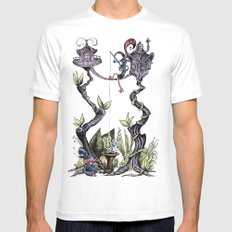 Tree Fun! White Mens Fitted Tee SMALL