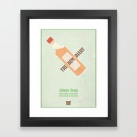 The Rum Diary - minimal poster Framed Art Print
