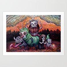 Black Storm On The Rise Art Print