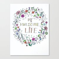 Awesome  Life Color Canvas Print