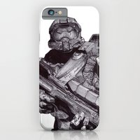Master Chief Pen Drawing iPhone 6 Slim Case