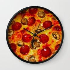Pepperoni And Mushroom P… Wall Clock