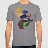 Rooster Mens Fitted Tee Tri-Grey SMALL