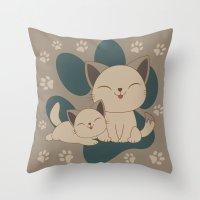 Mama, Mew...Mew... Throw Pillow