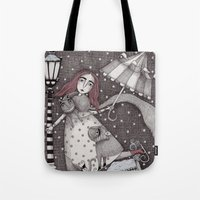 Alice's First Snow Tote Bag