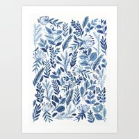indigo scatter Art Print