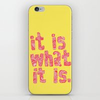 What It Is Yellow iPhone & iPod Skin