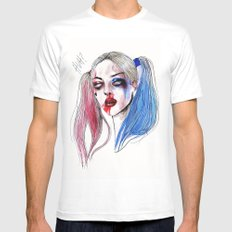 Margot as Harley quinn Fan art SMALL Mens Fitted Tee White