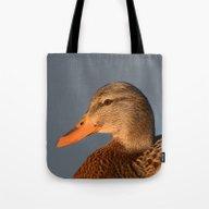 Female Duck Portrait Tote Bag