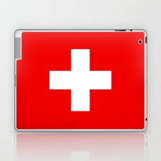 Flag of Switzerland - Authentic 2:3 scale version Laptop & iPad Skin