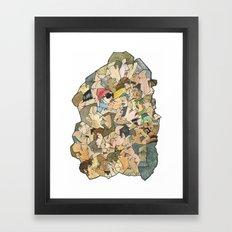 1001 faces Framed Art Print