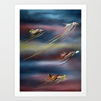 Dancing In Space Art Print