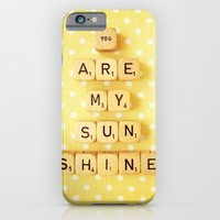 iPhone & iPod Case featuring You Are My Sunshine by happeemonkee