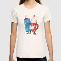 SANTA WANNABE Womens Fitted Tee Natural SMALL
