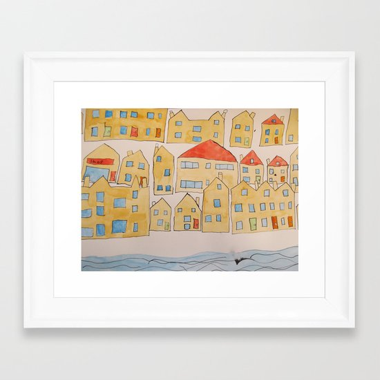 this town Framed Art Print