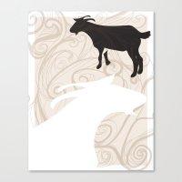 Farm Poster #1 -Goats Canvas Print