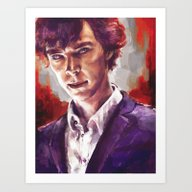Art Print featuring Sherlock Holmes by Alice X. Zhang