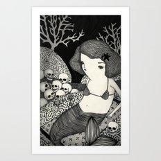 Bitter Mermaid Art Print