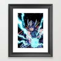 The Mighty THOR! Framed Art Print